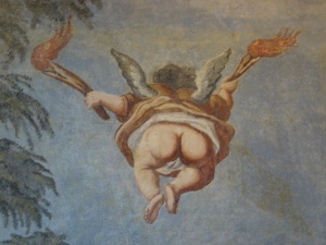 restauriertes Wandbild