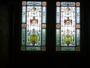 Fenster im Aufgang