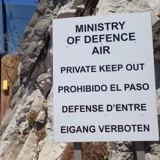 Gibraltar, ganz oben